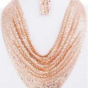 Mesh Necklace Sequin